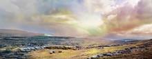 Panoramic Irish Landscape With...