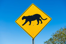 Traffic Sign At The Road Side ...