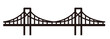 simple seamless bridge illustration