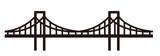 Fototapeta Most - simple seamless bridge illustration