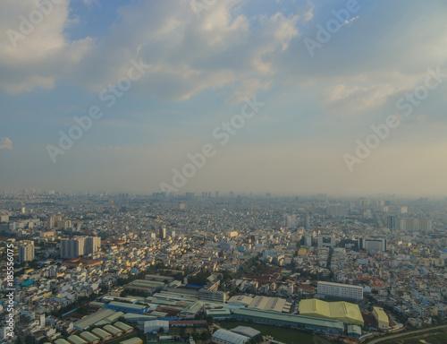 Canvas Prints Historical buildings Aerial view of Saigon, Vietnam