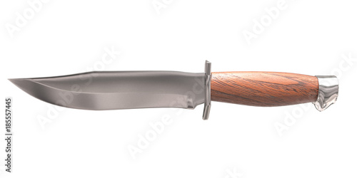 Photo  3d rendering bowie knife