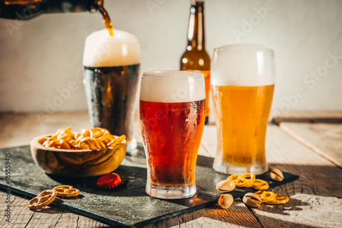 Photo sur Aluminium Biere, Cidre Different types of beer