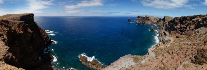 The Atlantic ocean with rocks, Madeira