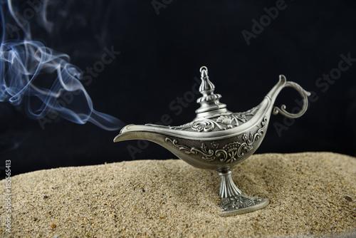 Fotografie, Obraz  Fairy-tale oil lamp Aladin smokes