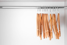 Clothes Hangers In Empty Wardr...