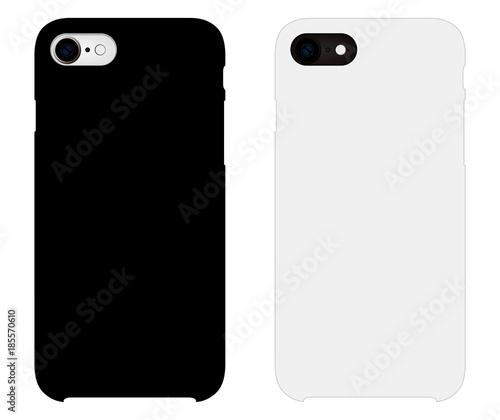 Smartphone case mockup template illustration (white/black) Billede på lærred