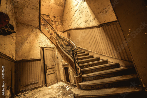 Lost place bureau central treppe buy this stock photo and