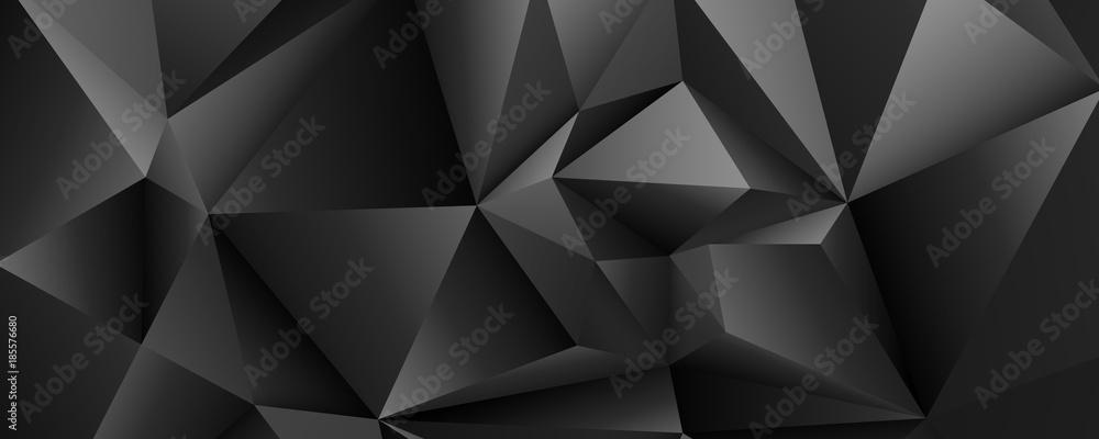 Fototapeta czarne kryształy tło wektor