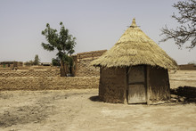 Traditional Hut In A Village O...