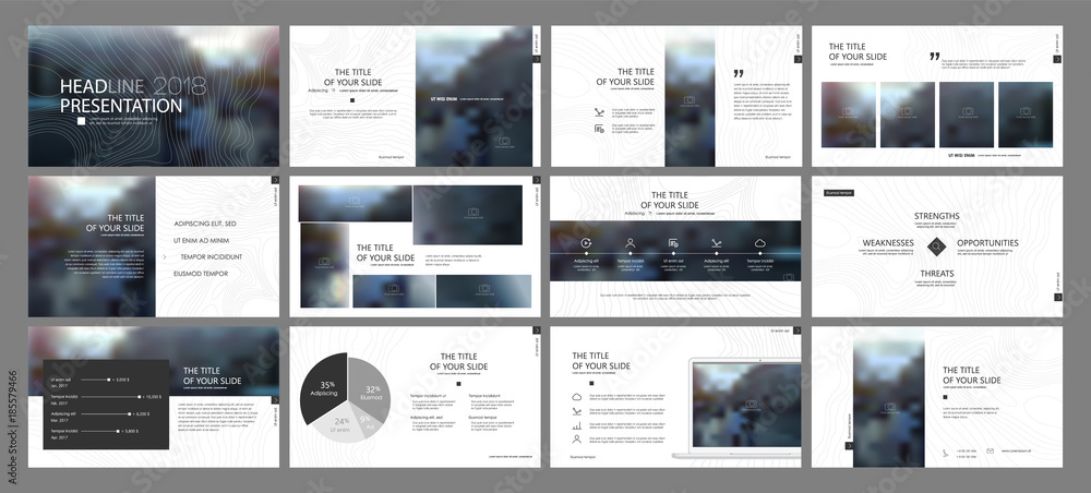 Fototapety, obrazy: Minimal Presentation Templates Element  Vector Infographics. Use in Presentation, flyer and leaflet, corporate report, marketing, advertising, annual report, banner.
