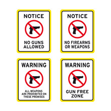 No Firearms Weapons Or Guns Si...
