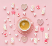 Coffee With Sweets For Valenti...