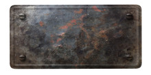 Rusty Black Metal Plate With B...