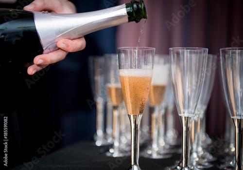 Fotografie, Obraz  bicchieri di champagne  rosè