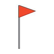 Flag Triangle Icon Image Vecto...