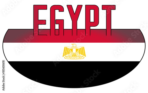 Illustration Logo Flag Of Egypt Official Symbols Isolated Buy This