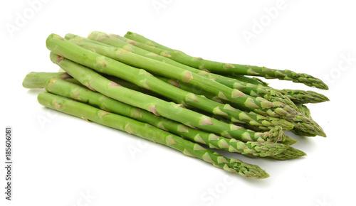 Photo Fresh green asparagus on white