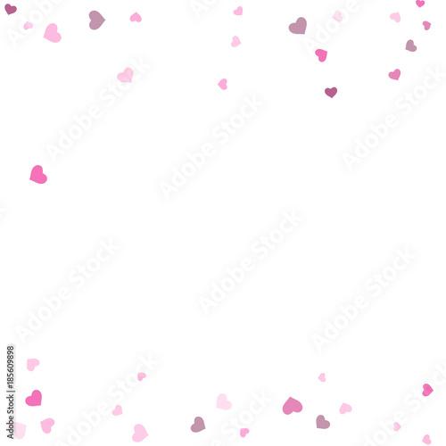 Heart confetti beautifully  fall on the background © niko180180