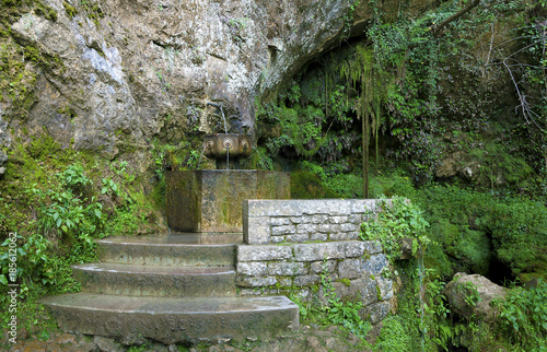 Recess Fitting Garden Fountain in the sanctuary of Covandonga, Asturias, Spain