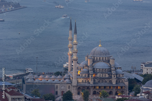 Magnificent istanbul city, historical peninsula , Fatih mosque , Sultan Ahmed mo Poster