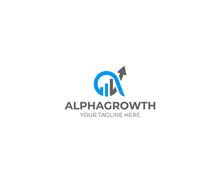 Alpha And Growth Symbol Logo T...