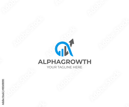 Alpha and Growth Symbol Logo Template Canvas Print