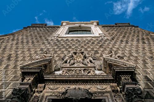 Obraz na plátně Facciata della chiesa del Gesù nuovo a Napoli