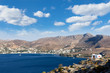 Panoramic view from the castle of Leros island, Dodecanese, Greece