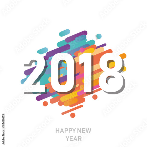 Happy new year 2018 vector background vector brochure design happy new year 2018 vector background vector brochure design template cover of business diary accmission Choice Image