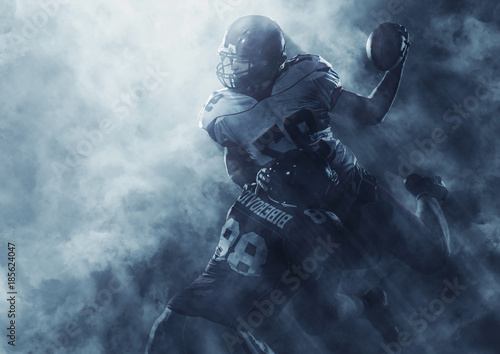 Photo American football players in action