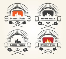 Firewood Oven Pizza Logo. Trad...