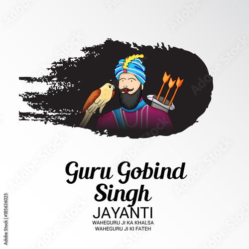 Printed kitchen splashbacks Watercolor skull Guru Gobind Singh Jayanti.