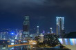 香港高層ビル夜景