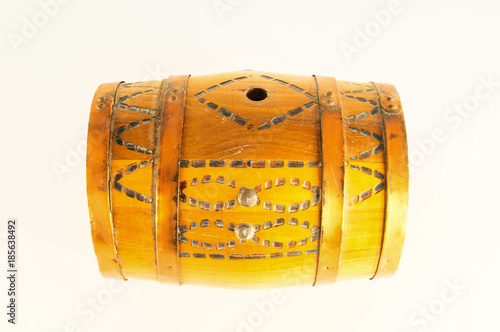 Tuinposter Egypte Close-up of decorated wooden barrel