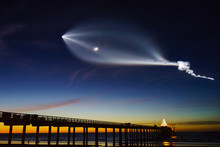 Falcon 9 Flew Over Scripps Pier At La Jolla Shores