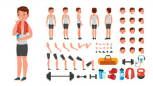 Fitness Man Vector. Animated A...