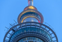 Sky Tower In Auckland New Zeal...