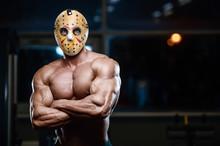Horror Brutal Mask Man Strong ...