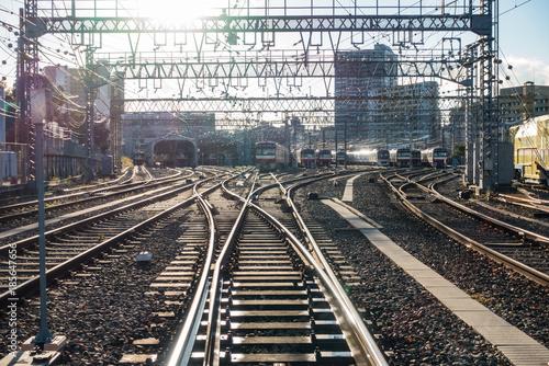 電車の車両基地