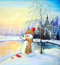 Winter Landscape Paintings, Sn...