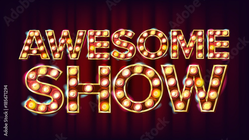 Obraz na plátně  Awesome Show Banner Sign Vector