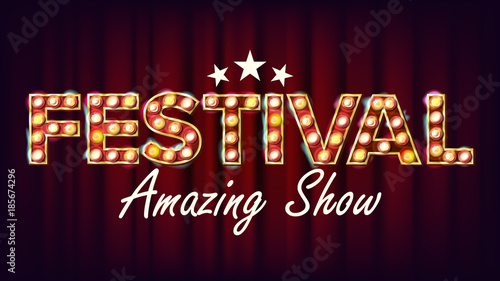 Festival Amazing Show Banner Sign Vector Canvas Print