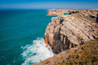 Portugal, Cabo de Sao Vicente, the Most South Westerly point of Europe, cliffs and ocean