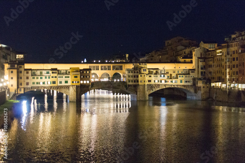 Wall Murals Florence Ponte Vecchio at night. Florence, Tuscany, Italy.