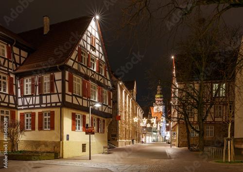 Haus Weihnachtsbeleuchtung.Max Eyth Haus In Kirchheim Teck Mit Weihnachtsbeleuchtung