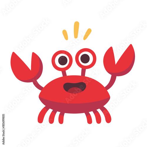 Cute cartoon crab Wallpaper Mural