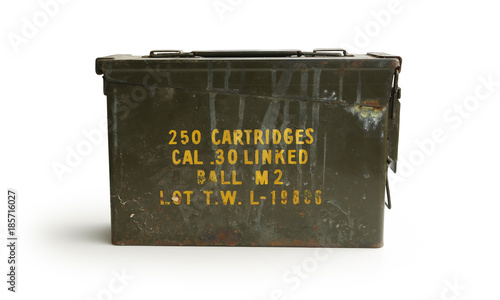 Ammo Container Front WWII Era Isolated on White Background Canvas Print