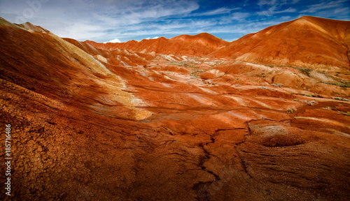 Deurstickers Baksteen scenery of Danxia Landform Geological Park in Zhangye, China