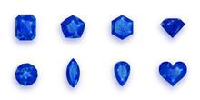 Set Of Blue Gemstones. Vector ...